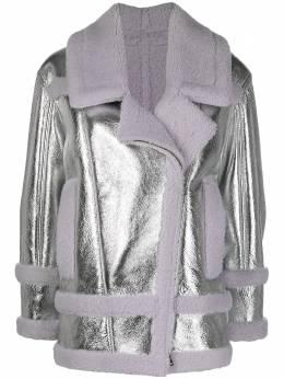 Blancha дубленка с эффектом металлик 20047300