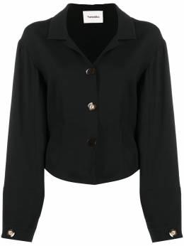 Nanushka блузка на пуговицах с длинными рукавами NW21RSTP00599