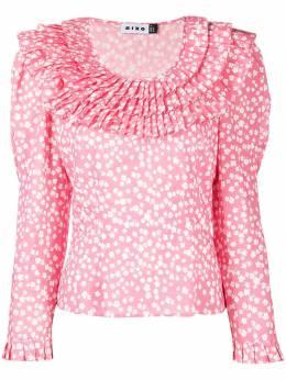 Rixo блузка с оборками и цветочным принтом LEILA