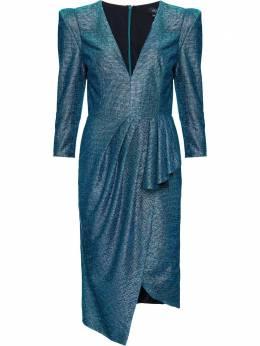 Patbo приталенное платье миди с эффектом металлик VEC11726US