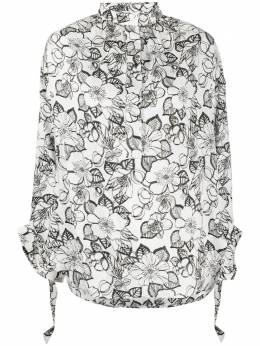 Christian Wijnants рубашка с цветочным принтом и длинными рукавами TANNY5104