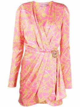 Chiara Ferragni платье с принтом и запахом 20AICFDR039