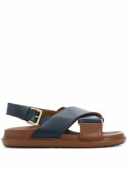 Marni сандалии Fussbett с перекрестными ремешками FBMS011601P3614