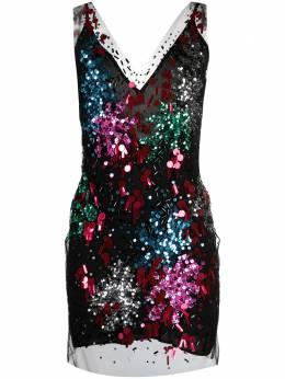 Faith Connexion платье мини с пайетками W1681T00E30