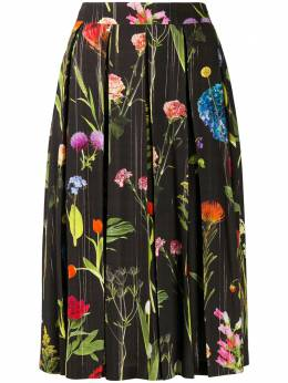 Boutique Moschino юбка с цветочным принтом и складками A01091154