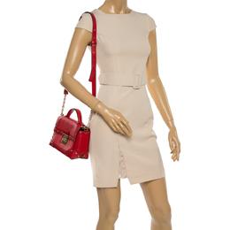 Michael Kors Red Leather Cori Top Handle Bag 365118