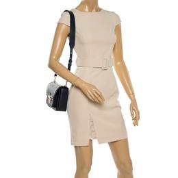 Michael Kors Navy Blue Leather Sloan Studded Shoulder Bag 365101