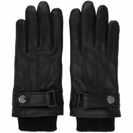 Boss by Hugo Boss Black Leather Hakani-TT Gloves 50436431