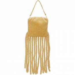 Bottega Veneta Beige Shearling The Fringe Shoulder Bag 630363 V03F1