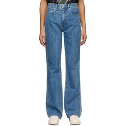 Slvrlake Blue Charlotte Bootcut Jeans CHAJ707SPACI