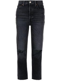 Re/Done джинсы с эффектом потертости 1653WSTV27