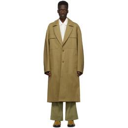 Kenzo Khaki Cotton Long Coat FA65MMA289SK 069SK.14