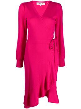 Dvf Diane Von Furstenberg платье тонкой вязки с запахом 15102DVF