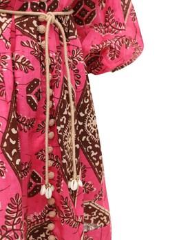 Короткое Платье Из Льна С Принтом Zimmermann 73IRSQ070-UElOSyBQUklOVA2