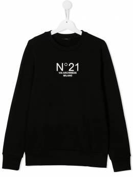 No.21 Kids толстовка с логотипом N21079N0154T