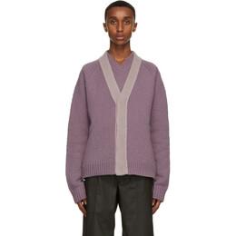 Bottega Veneta Purple Wool and Cashmere Cardigan 648822 V0BU0