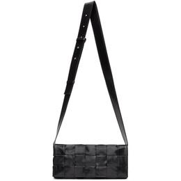 Bottega Veneta Black The Stretch Cassette Messenger Bag 629068 VCQ71