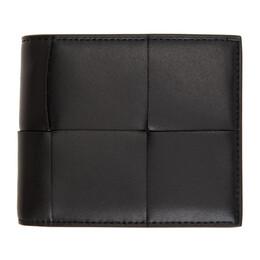 Bottega Veneta Black Intrecciato Bifold Wallet 649605 VBWD2
