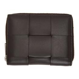 Bottega Veneta Brown Intrecciato Zip Around Wallet 649596 VBWD2
