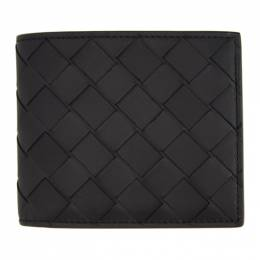 Bottega Veneta Black and Green Intrecciato Bifold Wallet 605721 VCPQ6