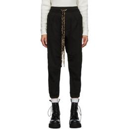 R13 Black Harmen Lounge Pants R13W7616-09