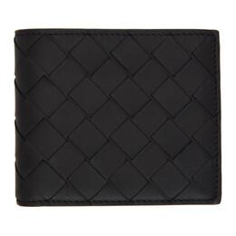 Bottega Veneta Black Intrecciato Bifold Wallet 605721 VCPQ4