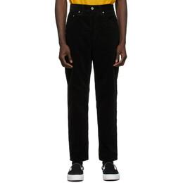 Carhartt Work In Progress Black Corduroy Newel Trousers I027232