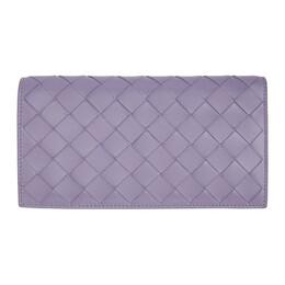 Bottega Veneta Purple Intrecciato Continental Wallet 600873 VCPP3