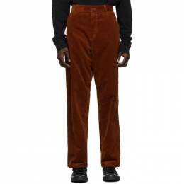 Carhartt Work In Progress Brown Corduroy Single Knee Trousers I028627