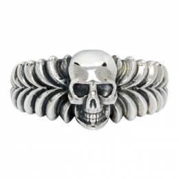 Emanuele Bicocchi Silver Skull Ring EATS1
