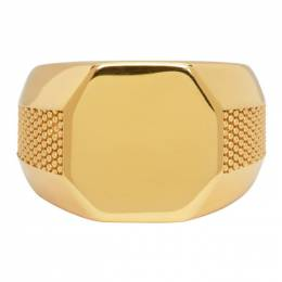 Emanuele Bicocchi Gold Plain Signet Ring PLA2G
