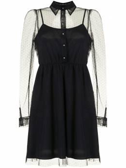 Twin-Set платье мини из тюля пуэн-деспри 202TQ2036S13134