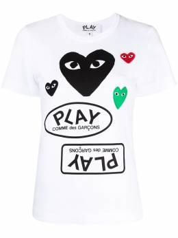 Comme Des Garcons Play футболка с короткими рукавами и логотипом P1T281