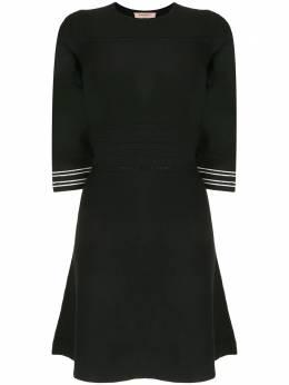 Twin-Set трикотажное платье с укороченными рукавами 202TQ3016S13126