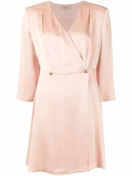 Twin-Set атласное платье с запахом 202TQ2048S13131