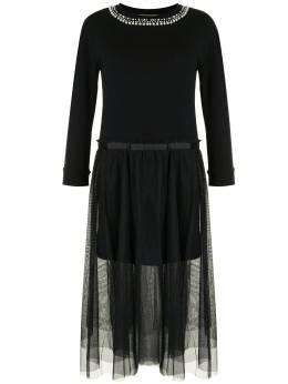 Twin-Set многослойное платье с декором из искусственного жемчуга 202TT2T55S13363