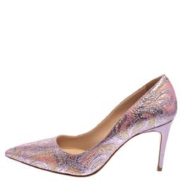 Miu Miu Multicolor Metallic Lurex Fabric Pointed Toe Pumps Size 37.5 363317