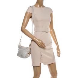 MICHAEL Michael Kors Off White Leather Crossbody Bag 365131