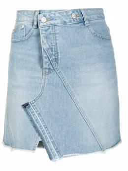 Sjyp джинсовая юбка асимметричного кроя PW2A3NSC029W