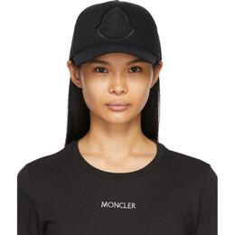 Moncler Black Logo Baseball Cap G10933B73210V0147