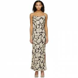 Nanushka Brown and Beige Willow Mid-Length Dress NW21RSDR01715