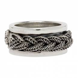 Emanuele Bicocchi Silver Braided Band Ring FKA3