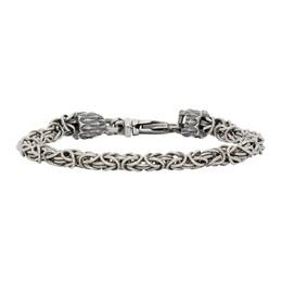 Emanuele Bicocchi Silver Small Byzantine Bracelet BYB3