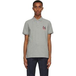 Moncler Grey Logo Polo 8A729 - 00 - 84556
