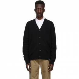 Norse Projects Black Wool Adam Cardigan N45-0395
