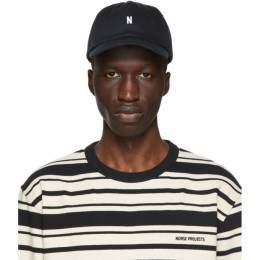 Norse Projects Black Twill Sports Cap N80-0001