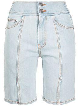 Sjyp джинсовые шорты с разрезом PW2A3NPC079W