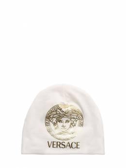 Шапка Из Хлопкового Джерси С Принтом Versace 73ILX2001-MlcxMTA1