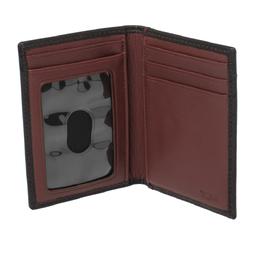Tumi Black Leather Bifold Card Case 366252