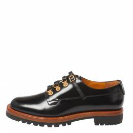 Dior Black Leather Lace Up Derby Size 38 365761